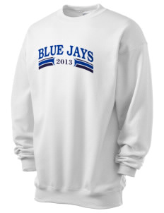 San Antonio De Padua School Blue Jays Men's 7.8 oz Lightweight Crewneck Sweatshirt