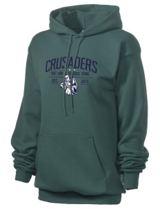 Saint John Of The Cross School Crusaders Unisex 7.8 oz Lightweight Hooded Sweatshirt
