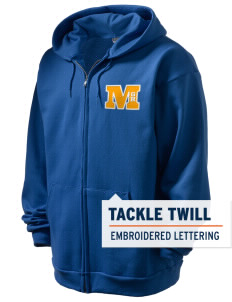 Gold Ridge Elementary School Miners Men's Full Zip Hooded Sweatshirt with Tackle Twill