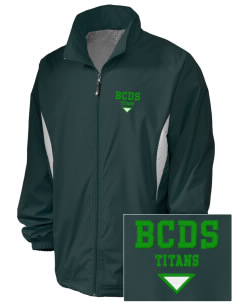 Bayside Community Day School Trojans Embroidered Holloway Men's Full-Zip Jacket