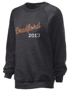 Bradford Middle School Eagles Unisex Alternative Eco-Fleece Raglan Sweatshirt with Distressed Applique