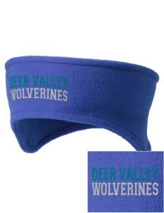 Deer Valley High School Wolverines Embroidered Fleece Headband