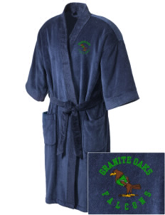 Granite Oaks Middle School Falcons Embroidered Terry Velour Robe