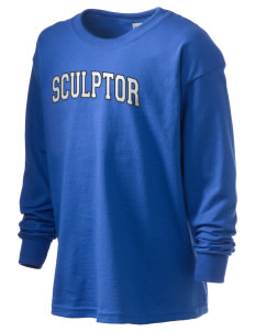 Sculptor Elementary School Painters With Brushes Kid's 6.1 oz Long Sleeve Ultra Cotton T-Shirt