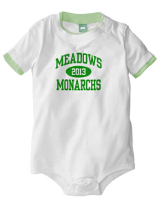 Meadows Elementary School Monarchs Baby One-Piece with Shoulder Snaps