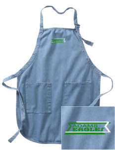 Adams Elementary School Eagles Embroidered Full-Length Apron with Pockets