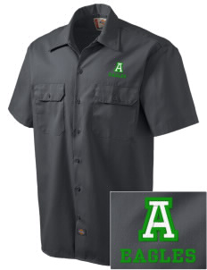 Adams Elementary School Eagles Embroidered Dickies Men's Short-Sleeve Workshirt