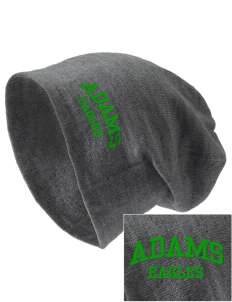 Adams Elementary School Eagles Embroidered Slouch Beanie