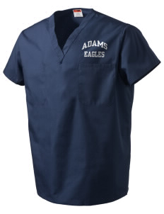 Adams Elementary School Eagles V-Neck Scrub Top