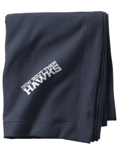 Stacy Middle School Hawks  Sweatshirt Blanket
