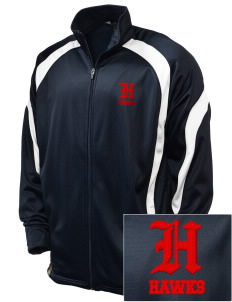 Stacy Middle School Hawks Embroidered Holloway Men's Tricotex Warm Up Jacket
