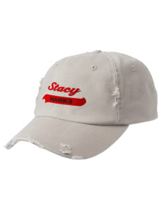 Stacy Middle School Hawks Embroidered Distressed Cap