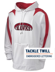 Stacy Middle School Hawks Holloway Men's Sports Fleece Hooded Sweatshirt with Tackle Twill