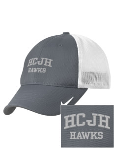 Heights Christian Junior High School Hawks Embroidered Nike Golf Mesh Back Cap