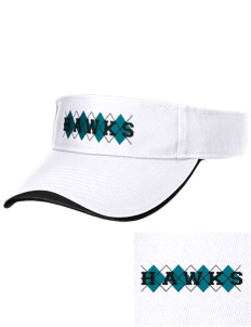 Heights Christian Junior High School Hawks Embroidered Binding Visor