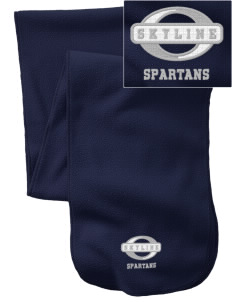 Skyline High School Spartans  Embroidered Extra Long Fleece Scarf