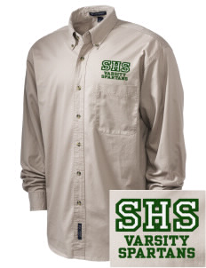 Skyline High School Spartans Embroidered Tall Men's Twill Shirt