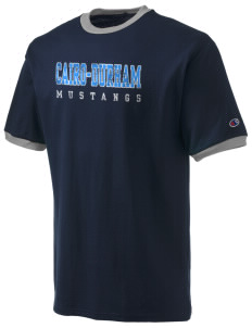 Cairo-Durham Middle School Mustangs Champion Men's Ringer T-Shirt