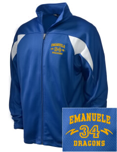 Emanuele Elementary School Dragons Embroidered Holloway Men's Full-Zip Track Jacket