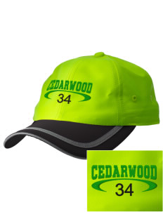 Cedarwood Elementary School Hawks  Embroidered Safety Cap