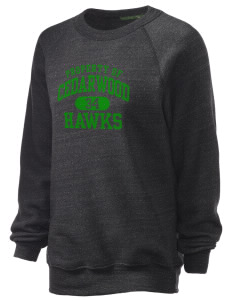 Cedarwood Elementary School Hawks Unisex Alternative Eco-Fleece Raglan Sweatshirt