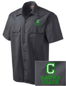 Cedarwood Elementary School Hawks Embroidered Dickies Men's Short-Sleeve Workshirt