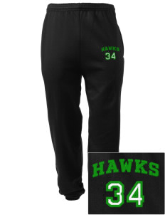 Cedarwood Elementary School Hawks Embroidered Men's Sweatpants with Pockets
