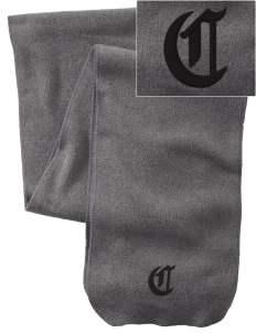 Light And Life Christian School Cougars  Embroidered Extra Long Fleece Scarf