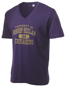 Bishop Heelan Catholic High School Crusaders Alternative Men's 3.7 oz Basic V-Neck T-Shirt