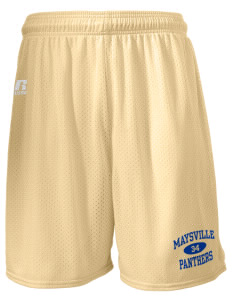"Maysville Elementary School Panthers  Russell Men's Mesh Shorts, 7"" Inseam"