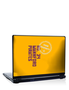 "Mannford Elementary School Pirates 17"" Laptop Skin"