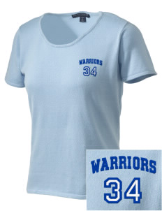 Wickes Elementary School Warriors Embroidered Women's Fine-Gauge Scoop Neck Sweater
