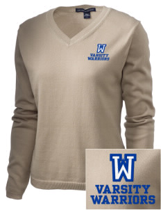 Wickes Elementary School Warriors Embroidered Women's V-Neck Sweater