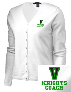 Valley Elementary School Knights Embroidered Women's Stretch Cardigan Sweater