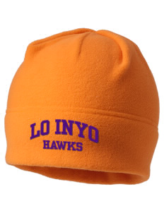 Lo Inyo Elementary School Hawks Embroidered Fleece Beanie