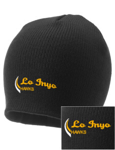 Lo Inyo Elementary School Hawks Embroidered Knit Cap