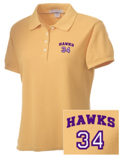 Lo Inyo Elementary School Hawks Embroidered Women's Performance Plus Pique Polo