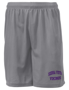 "Sierra Vista Middle School Vikings Men's Mesh Shorts, 7-1/2"" Inseam"
