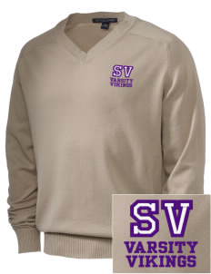 Sierra Vista Middle School Vikings Embroidered Men's V-Neck Sweater