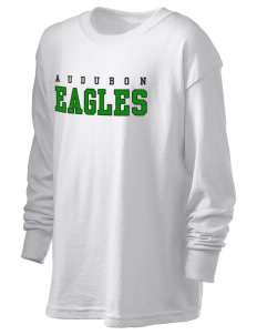 Audubon Junior High School Eagles Kid's 6.1 oz Long Sleeve Ultra Cotton T-Shirt