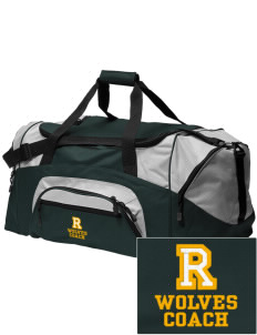 Reed Middle School Wolves Embroidered Colorblock Duffel Bag