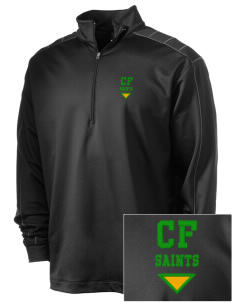 Clyde Fischer Middle School Saints Embroidered Nike Men's Golf Dri-Fit 1/2 Zip