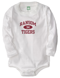 Ransom Middle School Tigers  Baby Long Sleeve 1-Piece with Shoulder Snaps