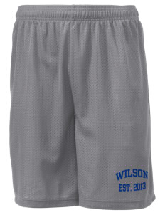 "Wilson Junior High School Warriors Men's Mesh Shorts, 7-1/2"" Inseam"