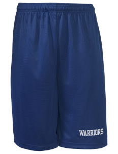 "Wilson Junior High School Warriors Long Mesh Shorts, 9"" Inseam"