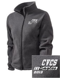 Cielo Vista Elementary School Eagles Embroidered Women's Fleece Full-Zip Jacket