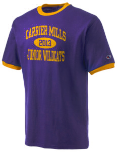 Carrier Mills Elementary School Junior Wildcats Champion Men's Ringer T-Shirt