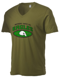 Independence Charter High Eagles Alternative Men's 3.7 oz Basic V-Neck T-Shirt