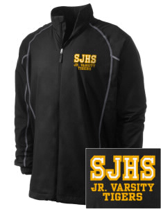 Sims Junior High School Tigers Embroidered Men's Nike Golf Full Zip Wind Jacket