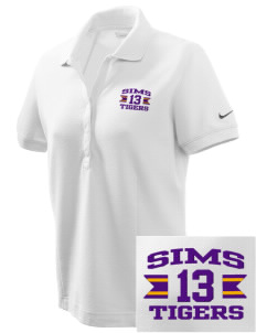 Sims Junior High School Tigers Embroidered Nike Women's Pique Golf Polo